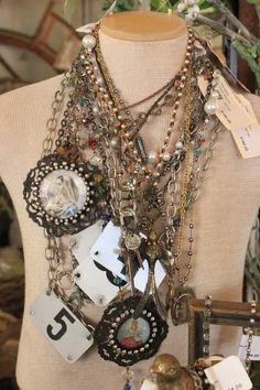 I like this kind of jewelry.  Not all at once of course!  But, you get the idea!