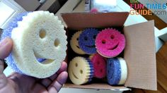 Have you seen the new Scrub Mommy sponges? They're nice because they're soft on one side and scrubby like a Scrub Daddy smiley face sponge on the other side.