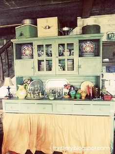 Kitchen hutch.  I think I want to go country for the vacation home.