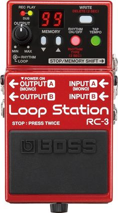 Boss RC-3 Loop Station Pedal, most favorite peice of gear I own. Period.