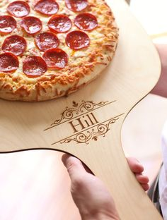 Personalized Pizza Peel Paddle Custom Engraved Christmas Gift Under 30 Hostess Gift Host Rustic Country Kitchen Decor NEW on Etsy, $29.99