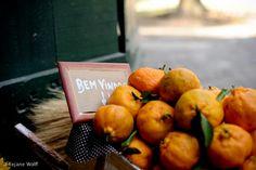 Decoração com laranjas..