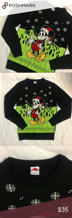 36f942e831 Micky Mouse Christmas sweater Micky Mouse over sized Christmas sweater. Size  small Disney Sweaters Crew