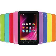 """HKC 7"""" Capacitive Touchscreen Tablet Featuring Google Mobile Services and Android 4.0 with 8GB Memory (Assorted Colors)"""