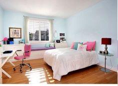 Light, modern, girly room