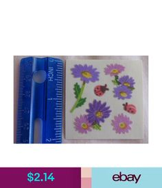 Sandylion WREATH OF BIRD /& FRUIT 1 Square RETIRED VINTAGE Stickers/'