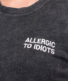 Allergic to Idiots | JV by Jac Vanek