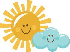 Happy Sun And Cloud SVG scrapbook title sun svg cut file sun cut file for cutting machines free svg cut files