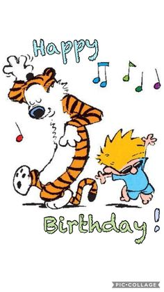 Calvin Hobbs Birthday Dance Quotes For Me Wishes Kids Happy