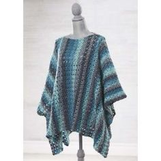 Free crochet pattern. Pattern category: Poncho. DK weight yarn. 1800-2100 yards. Easy difficulty level.