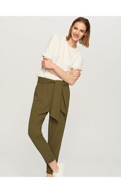 LADIES` TROUSERS, New In, khaki, RESERVED