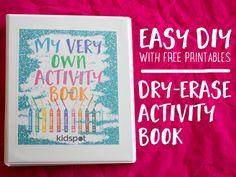 Make a fun-packed reusable activity book - Kidspot