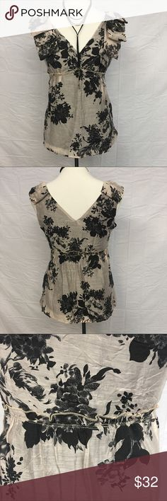 NWOT Anthropologie Weston Wear Top Gorgeous top from Weston Wear brand Anthropologie! Babydoll style top with an empire waist. V neck and back. Bow detail at shoulder. New without tags, never worn. Undamaged. Smoke and pet free home. Anthropologie Tops Tank Tops