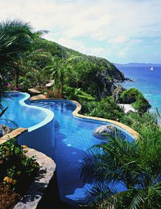 Pool with a view - Luxury BVI Resort | Rosewood Little Dix Bay| Rosewood Hotels & Resorts #CaribbeanResorts