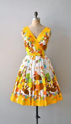 vintage 1950s dress / cotton 50s dress #summer #fashion #floral #dress #1950s #partydress #vintage #frock #retro #sundress #floralprint #romantic #feminine