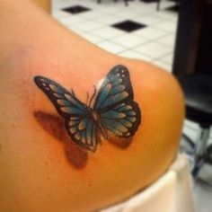 3d butterfly shadow tattoo