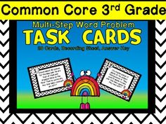 Multi-Step Word Problems- Math Workstation for CC 3rd Grade