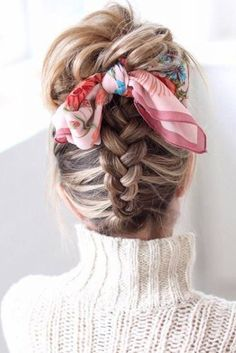 65 Charming Braided Hairstyles Dutch Braided Updo Hairstyles - Station Of Colored Hairs Medium Hair Styles, Curly Hair Styles, Natural Hair Styles, Braided Hairstyles Updo, Pretty Hairstyles, Teenage Hairstyles, Hairstyle Ideas, Hairdos, School Hairstyles