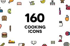 160 Cooking icons by HNINE on @creativemarket