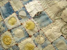 Jude Hill time creates patterns - I love her work Textile Fiber Art, Textile Artists, Embroidery Art, Embroidery Stitches, Fabric Art, Fabric Crafts, Fibre And Fabric, Quilt Modernen, Crazy Patchwork