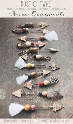 Handmade Rustic Twig Arrow Ornaments   DIY Christmas Crafts