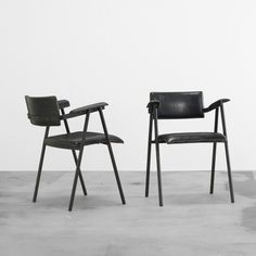 Jacques Adnet armchairs, pair