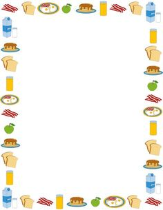Breakfast page border. Free downloads at http://pageborders.org/download/breakfast-border/: