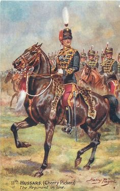 11TH HUSSARS, (CHERRY PICKERS) THE REGIMENT IN LINE