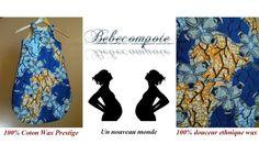 Gigoteuse bébé en tissu wax Royal www.bebecompote.com