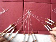 ▶ verbindingen - connecting braids - How to make an connection of 2 braids, 3 braids and 4 braids - by Frida Schmit