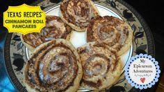 My Epicurean Adventures: Texas Recipes' Cinnamon Roll Pancakes - OMG!