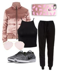"""""""😊"""" by sharifahfun on Polyvore featuring NIKE, Topshop, NLY Trend, Sans Souci and Casetify"""