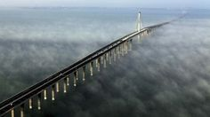 China Opens World's Longest Bridge. Would You Cross It? : NPR. Hmmm 26 miles? Add .2 for cool 26.2