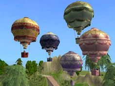 pretty hot air balloons that would be good for tattoo