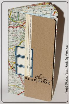 road book with map pages