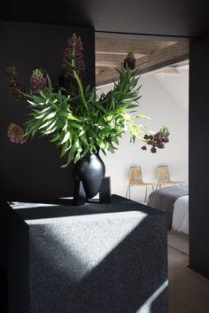 Interior Project – The Vipp Loft, Copenhagen, Denmark, By Studio David Thulstrup 2017. Photographed by Jean-Francois Jaussaud #interior #design #residential #residence #studiodavidthulstrup #living #space #bedroom #chairs #flowers #inspiration
