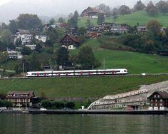 SBB Railway, Walchwil ZG, Switzerland