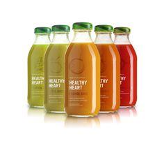 Beautiful design!  Healthy Heart Juice by Matt Ivory, via Behance