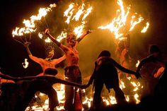 Beltaine fire and dance.