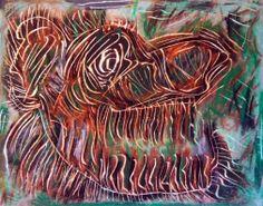"""""""Tigre"""" 2013 Tecnica mista su cartoncino 38x48 ©Pietro Gargano"""