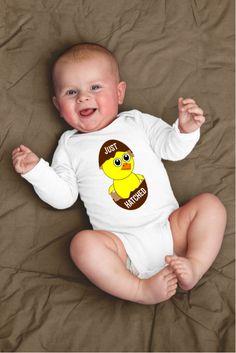 Just Hatched Funny Chicken Baby Onesie Gift
