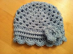 Anthropologie Inspired hat = made this hat in a child size, but the yarn and the stitches used really gives it a lot of room to grow.