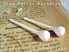 Les Possédés earrings, polymer clay and sterling silver by Les Folles Marquises, via Etsy.