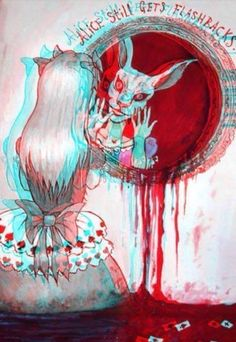 Wallpaper Disney - Mit Alice D. im Wunderland- Wallpaper World, Iphone Wallpaper, Trippy Drawings, Art Drawings, Stoner Art, Alice Madness, Arte Horror, Dope Art, Psychedelic Art