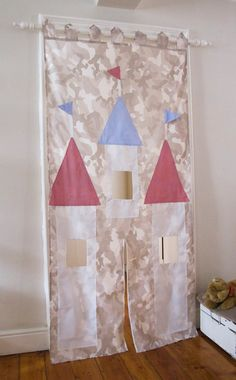 Doorway castle drop curtain by CoolSpacesForKids on Etsy, $62.00