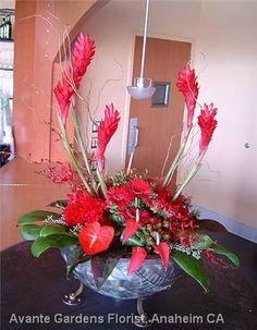 tropical flower arrangements centerpieces | Floral Design Gallery - Anaheim, CA : Tropical Flower Arrangements ...