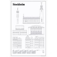 Studio Esinam's Stockholm Elevations poster