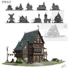 ArtStation - Architectural design, XIAOHUI FU