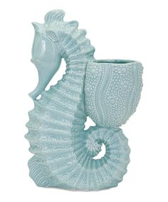 IMAX Sea Horse Ceramic Planter
