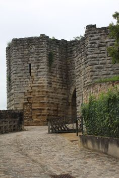 Chateau Thierry 13c. Medieval Ruins. Joan of Arc ( Jeanne D'ARC was here) Normandy, France